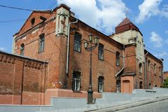 Tomsk, old brick house Stock Photography