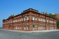 Tomsk, old brick house Stock Images