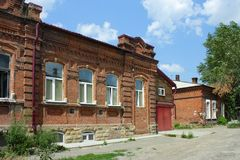 Tomsk, old brick house Royalty Free Stock Images
