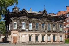 Tomsk, an old house Royalty Free Stock Photo