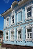 Tomsk, old wooden house Royalty Free Stock Images