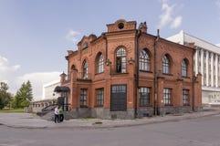 Tomsk, Rusia, calle de Lenin Frunze Avenue 10 de julio de 2017 Parte central de la ciudad Calles que caminan en verano Imagen de archivo libre de regalías