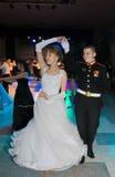 tomsk Rusia - 23 de enero de 2016: Danza moderna Foto de archivo libre de regalías