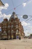 Tomsk, Rusland, de Straat van Lenin Frunze Avenue 10 juli, 2017 Centraal deel van de stad Het lopen van straten in de zomer Stock Foto's