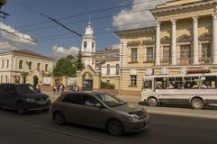 Tomsk, Rusland, het Vierkant van Lenin 10 juli, 2017 Centraal deel van de stad Het lopen van straten in de zomer Royalty-vrije Stock Afbeelding