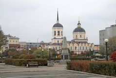 Epiphany Cathedral in TOMSK, RUSSIA royalty free stock photography