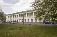 Tomsk, Russia, quadrato di Lenin 10 luglio 2017 Parte centrale della città Vie di camminata di estate Immagini Stock Libere da Diritti