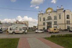 Tomsk, Russie, place de Lénine 10 juillet 2017 Partie centrale de la ville Rues de marche en été Photographie stock