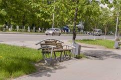 Tomsk, Russie, rue de Lénine 10 juillet 2017 Partie centrale de la ville Rues de marche en été Photographie stock libre de droits