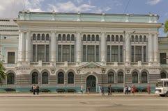 Tomsk, Russie, rue de Lénine 10 juillet 2017 Partie centrale de la ville Rues de marche en été Image stock