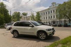 Tomsk, Russie, rue de Lénine 10 juillet 2017 Partie centrale de la ville Rues de marche en été Photo libre de droits