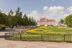 Tomsk, Russie, rue de Lénine 10 juillet 2017 Partie centrale de la ville Rues de marche en été Images stock