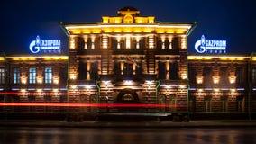 Tomsk Ryssland - Juni 10, 2018: gammal tegelstenbyggnad Royaltyfria Bilder