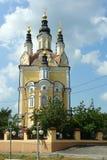 Tomsk, Voskresenskaya-Kerk royalty-vrije stock afbeeldingen