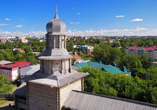 Tomsk wooden kremlin and view on Tomsk, Russia Royalty Free Stock Photo
