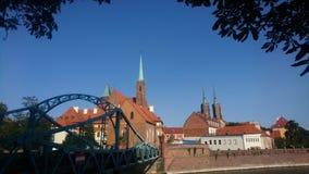 Tomski ostrów Wroclaw whit Katedra Jana chrzciciela royalty free stock images