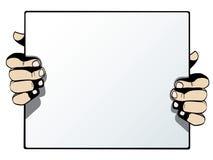 Tomt advertizingkort som isoleras på vitbac Royaltyfri Foto