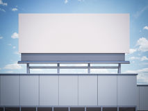 Tomt affischtavlaanseende på en kontorsbyggnad framförande 3d Arkivbild