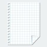 Tomt ark för vektor av papper Royaltyfri Foto