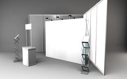 tomt bås för handelshow för tolkning för formgivare 3D vektor illustrationer