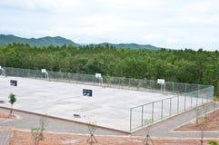 Tomt basketfält Fotografering för Bildbyråer