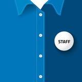 Tomt emblem för satt personalID Arkivfoton
