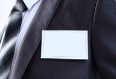 Tomt emblem på mäns torso royaltyfri foto