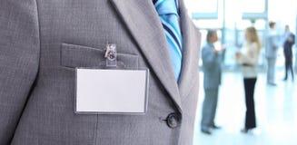 Tomt emblem på mäns torso Royaltyfri Bild