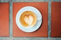 Tomt exponeringsglas av kaffe Fotografering för Bildbyråer