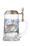 tomt exponeringsglas för öl Arkivbilder