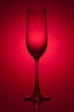 tomt exponeringsglas för champagne Arkivbild