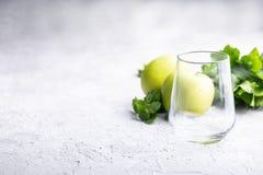 Tomt exponeringsglas för smoothie Fotografering för Bildbyråer