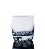 Tomt exponeringsglas för whiskey Fotografering för Bildbyråer