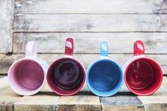 Tomt exponeringsglas i många färgar royaltyfri fotografi