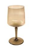 tomt exponeringsglas isolerad vit wine Arkivfoto