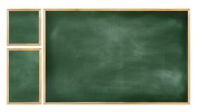 Tomt för klassrumsvart tavla för utbildning tre begrepp Arkivbild