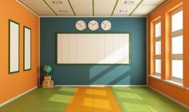 Tomt färgrikt klassrum Arkivbild