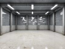 Tomt garage för öppet utrymme Royaltyfria Foton