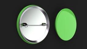 Tomt grönt emblem på svart bakgrund Arkivbild