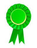 Tomt grönt utmärkelseemblem. Royaltyfri Foto