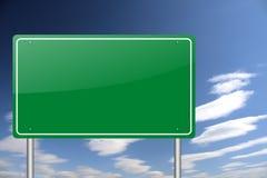 tomt grönt vägmärke Arkivbild