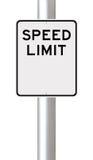 Tomt hastighetsbegränsningtecken arkivfoton