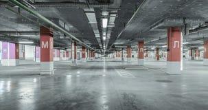 tomt industriellt lott för bakgrund som parkerar den stads- väggen stads- bakgrund Royaltyfri Foto