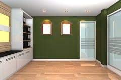 tomt inre modernt kontor för affär Royaltyfria Bilder