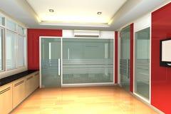 tomt inre modernt kontor för affär Royaltyfria Foton