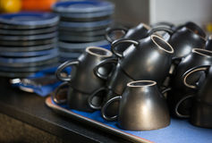 Tomt kaffe kuper Royaltyfri Fotografi