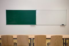 tomt klassrum Royaltyfri Bild