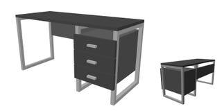 tomt kontor för skrivbord bakgrund isolerad white royaltyfri illustrationer