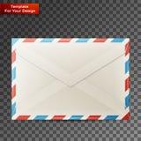 Tomt kuvert som isoleras på genomskinlig bakgrund stock illustrationer