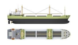 Tomt lastfartyg med kranar stock illustrationer
